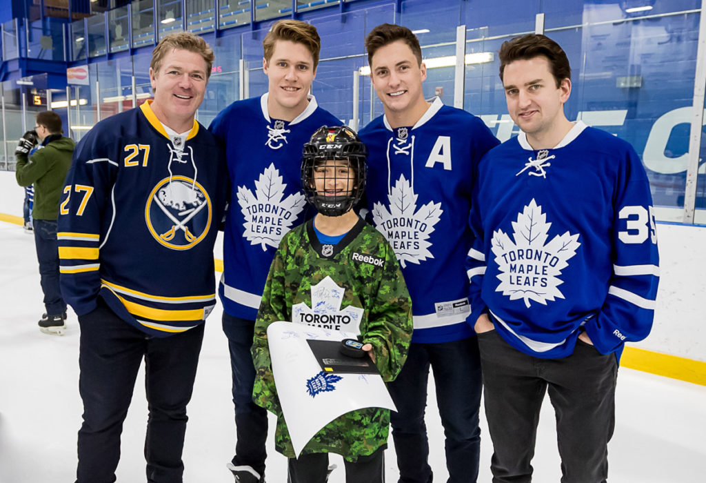 Brad May - Leafs - and a fan